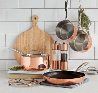 Copper is STILL in and we're still loving it! Our set of pans are exactly how you should be adding it into your kitchen.
