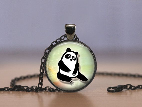 Jewelry  25mm  Panda Bear Silhouette  Choose by MaDGreenCreations