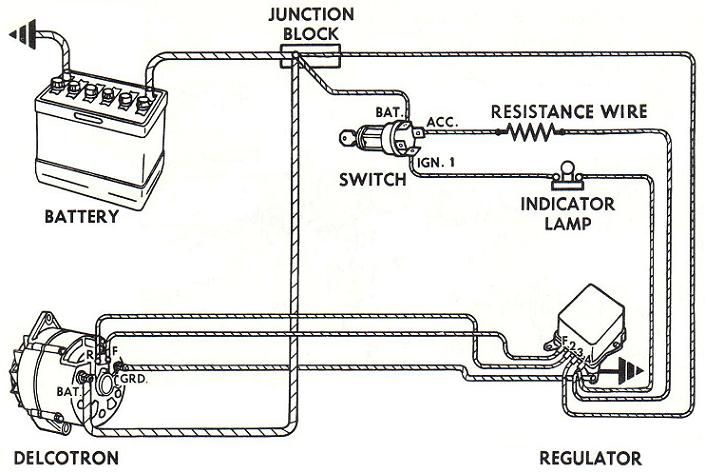 Alternator Wiring Diagram   alternator   Pinterest   Ford