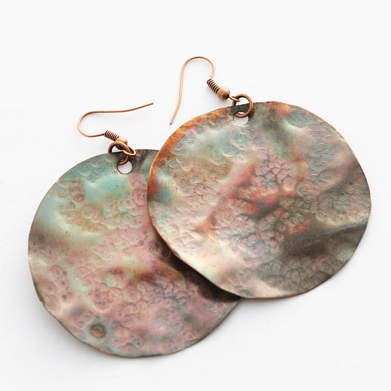 Rolling copper earrings by evasmidt on Etsy, $40.00