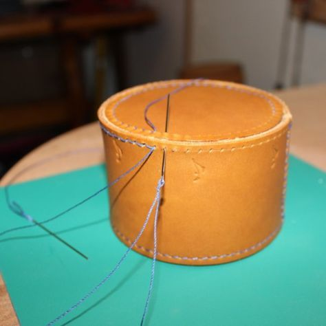 Box Stitching leather