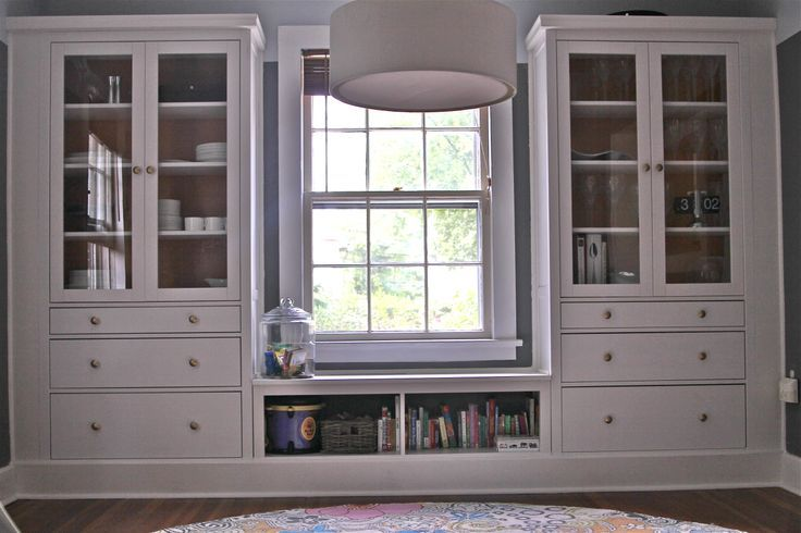 ikea hemnes hack - built ins using hemnes cabinets...mudroom with faux finish