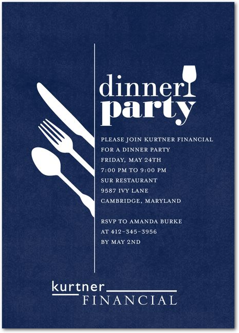 Darling Dinner Party - Corporate Event Invitations in Baltic or Dark Gray…
