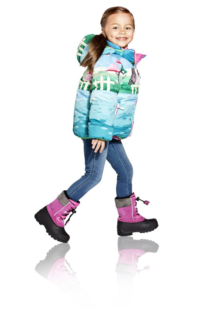 Kids' reversible winter jacket with list pockets and Angry Bird figure print on solid side.    [Angry Birds™ Reima® winter collection 2013] Reima Finland