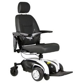 Excel Venture with Elevating Seat Electric Wheelchairs, this powerchair is excellent for those who wish to have a chair that can be used both indoors and outdoors!