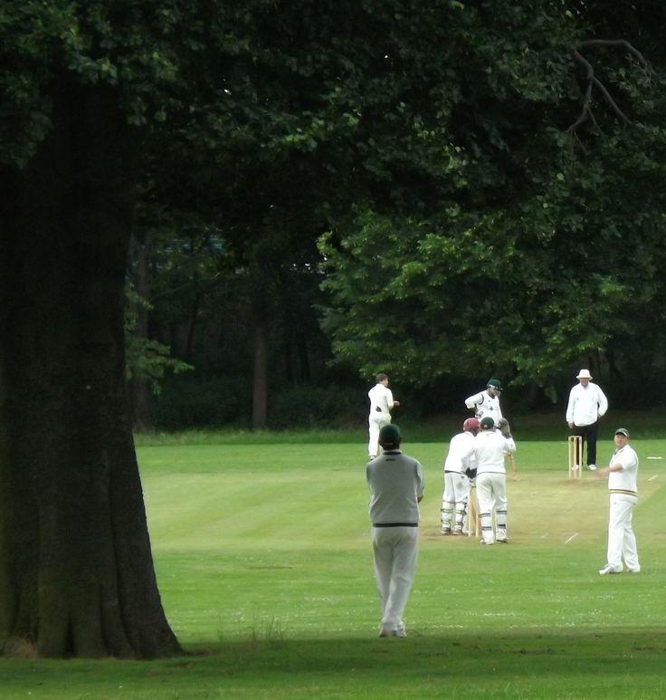 Cricket Match in Aston Hall Park.  Taken 22.6.2013.  Aston, Birmingham - cricket and afternoon tea....fabulously English!