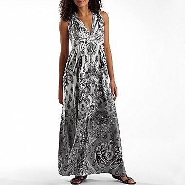 Unity World Wear 174 Printed Maxi Dress Jcpenney Special