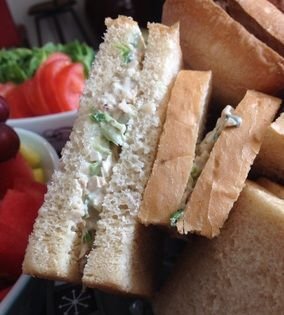 These Vegan Chicken Salad Sandwiches are perfect for when the temperature gauge exceeds 100 degrees!