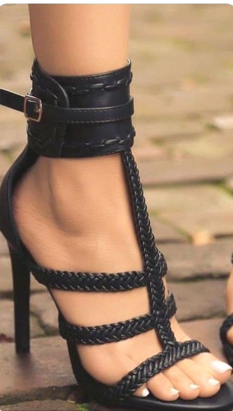 0c37c53fdf7 Pin by upside down on shoes | Shoes, Black strappy heels, Shoe boots