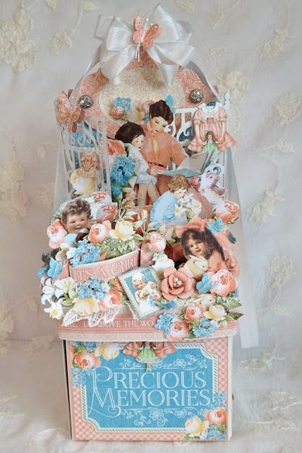 annes papercreations: Graphic 45 Precious Memories Photo box photo album by Anne Rostad