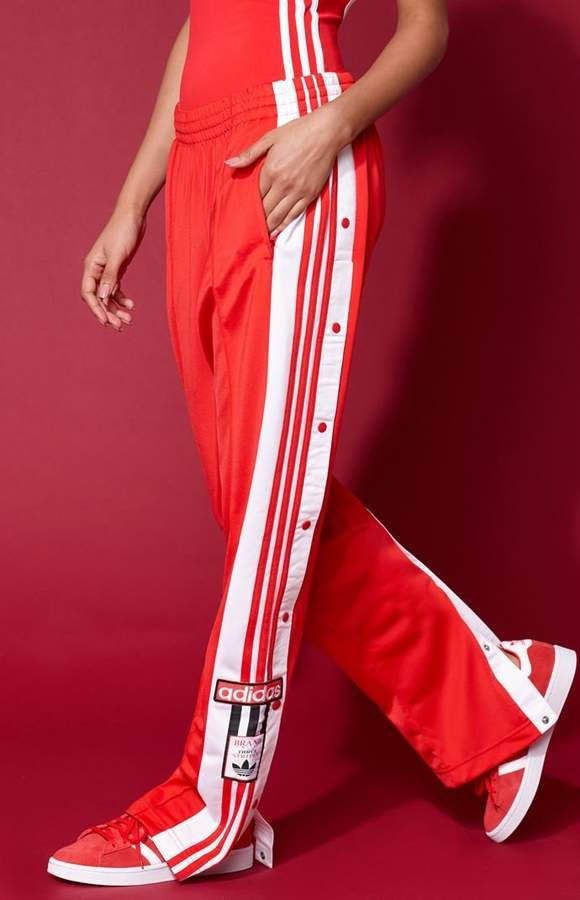 adidas Originals adidas Originals adicolor Three Stripe Track Pants In Red Red from ASOS USA ShapeShop  ShapeShop