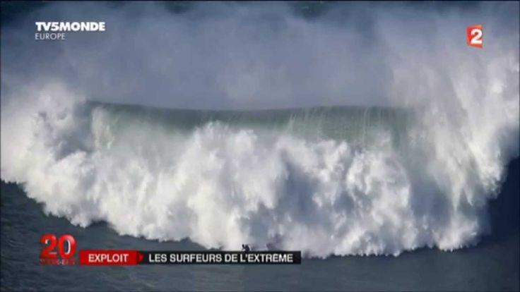 SURF SUR LA VAGUE DE NAZARE AU PORTUGAL (30 metres) - 11 DECEMBRE 2014