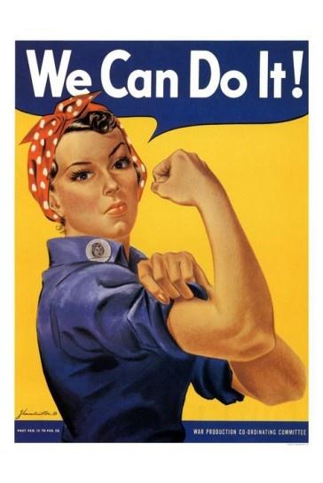 We Can Do It Rosie Riveter War Print 1942 £7.99