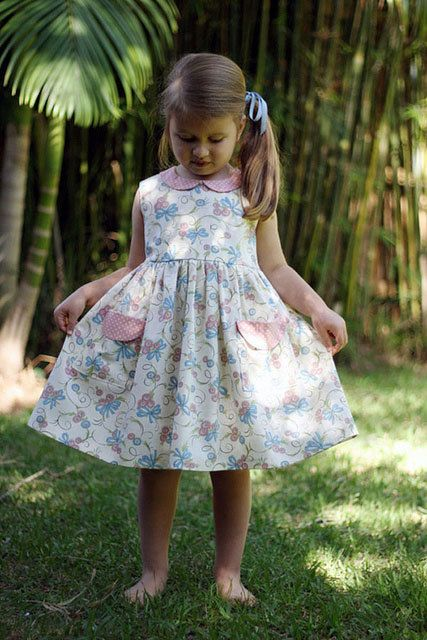 Peter Pan Collar Party Dress for Toddlers Girls Sizes 1,2,3,4,5,6,7,8 INSTANT DOWNLOAD PDF Sewing Pattern The Madeline Dress