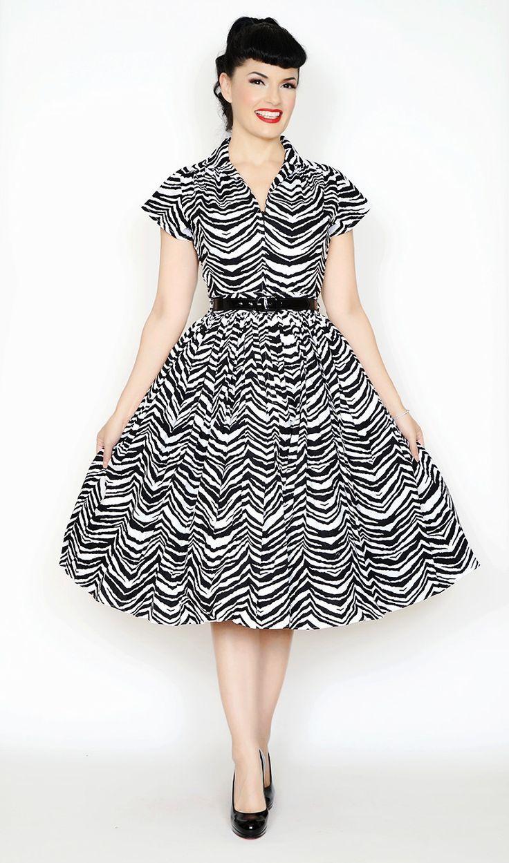Kelly Black & White Zebra Print Dress