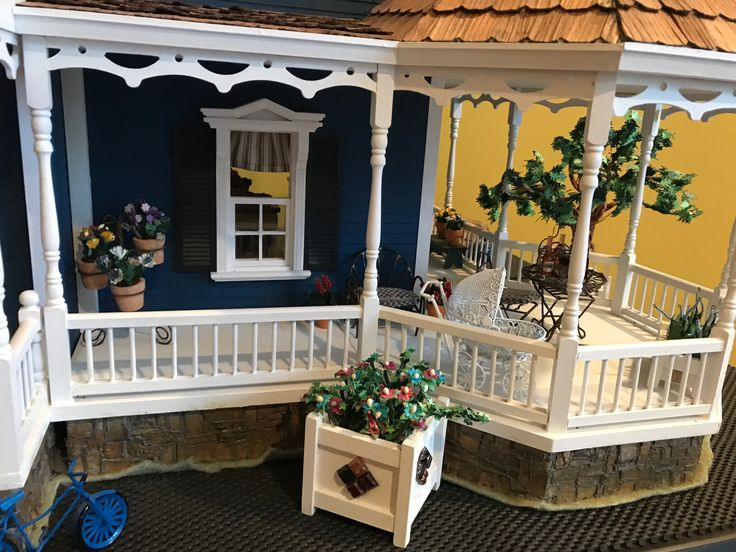 """Dollhouse - The porch at """"Sigley Cove"""""""