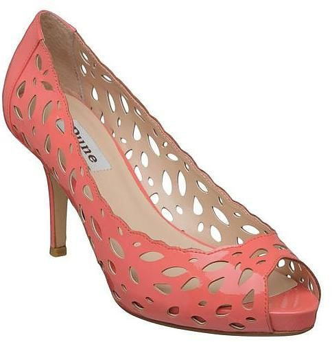 Womens coral court shoe from Dune - £70 at ClothingByColour.com