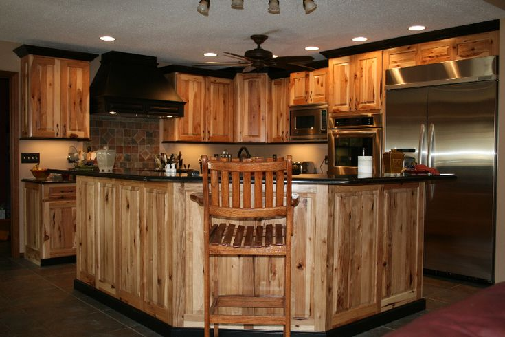 1000 images about kitchen decorating ideas on pinterest islands beautiful kitchens and open - Knotty hickory kitchen cabinets ...