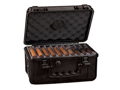 Xikar 50-80 Cigar Travel Humidor by Xikar. $99.99. Selecting the right XIKAR travel humidor for your cigars is very important. XIKAR makes six (6) different sizes of travel humidors for the right occasion. The travel humidor case size, number of cigars and temperature will determine how you maintain the RH and how often to recharge the humidifier. To maintain the proper humidity in your travel humidor, use a few drops of XIKAR PG Solution and fully charge the humidificatio...