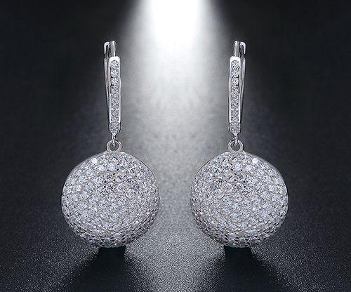 Sterling Silver 925 Earrings Round Shape Earrings