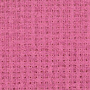 Bright+pink+AIDA+14+Count+Fabric.+Permin+aida.+Pink+quality cross stitch fabric per meter by Studio Koekoek