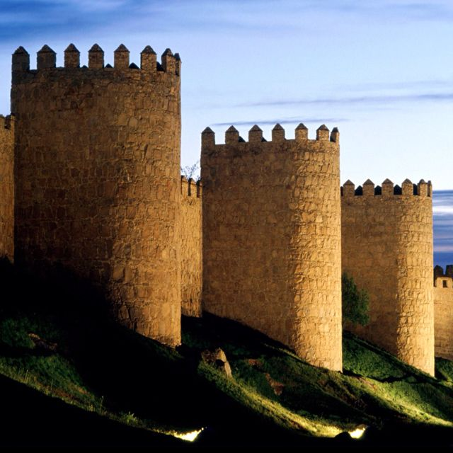 Avila Castle, Spain.  Go to www.YourTravelVideos.com or just click on photo for home videos and much more on sites like this.
