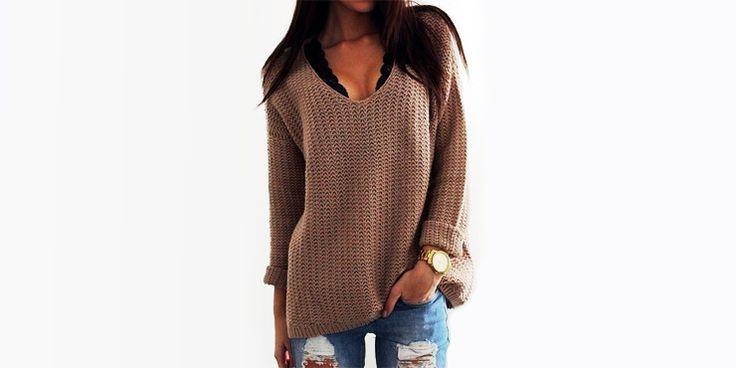 16 Outfits que puedes armar con suéteres holgados