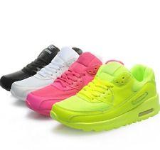 Nuevo para Mujer Moda tenis informales con cordones de cuero zapatos Entrenador