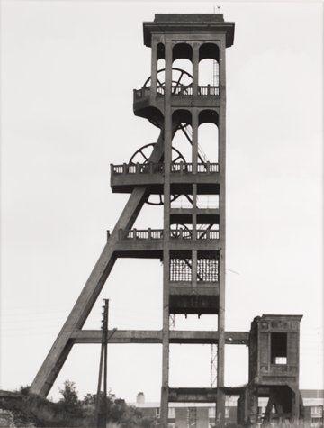 """Bernd and Hilla Becher, Bernd Becher, Hilla Becher, Förderturm, 1920, Fosse """"Dutemple,"""" Valenciennes, Nordfrankreich (Winding tower, 1920, Fosse """"Dutemple, """" Valenciennes, North France), from the portfolio Industriebauten (Industrial Buildings)  , San Francisco Museum of Modern Art, 1967"""