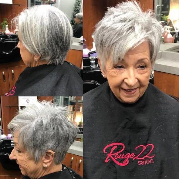 灰色假发非洲裔美国人最适合白人女性的假发银灰色头发– Wigbaba
