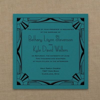 18 best art deco wedding invitations images on pinterest wedding all that jazz imperial invitation marina free spirit invitations stopboris Images