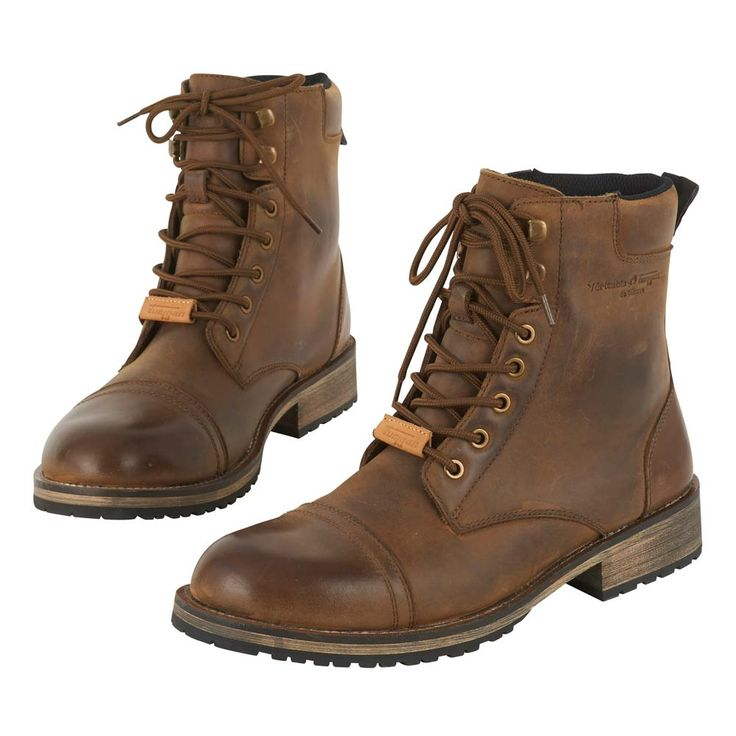 Furygan Caprino Boots - Brown | Motorcycle Boots | FREE UK delivery - The Cafe Racer