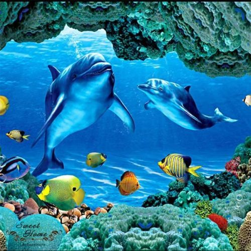 27 best images about dolphin bedroom on pinterest for Dolphin mural wallpaper