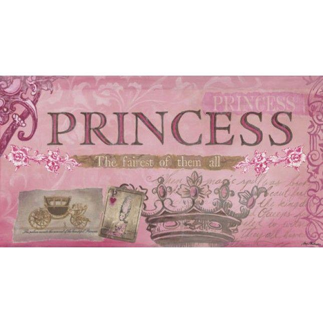 Princess Wall Decor | Home » Princess - Fairest of Them All, Pink - Canvas Wall Art Return ...