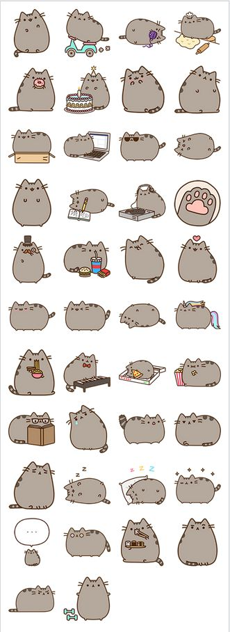 The many styles of Pusheen the cat!