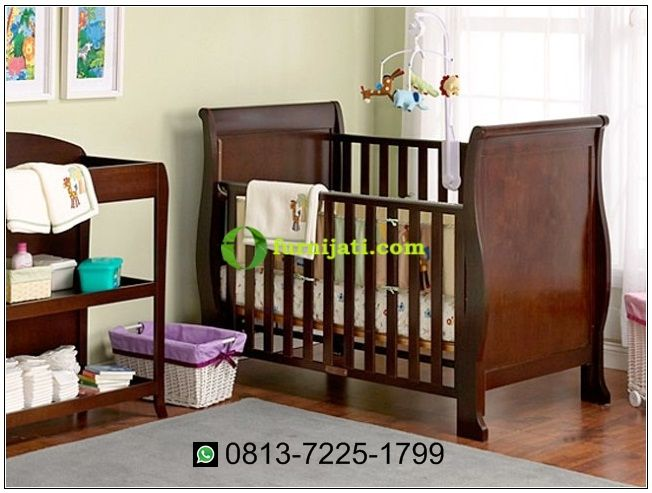 Harga tempat tidur bayi kayu jati