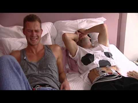 Still laughing! Any woman who has given birth should watch this! To see what women go through during labor these two guys they strapped some electrodes onto their abdomens to experience contractions. I almost feel bad for them and they only lasted 10 minutes!
