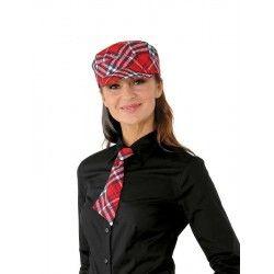 piros kockás nyakkendő