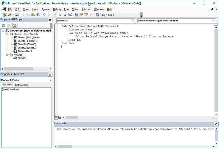 How To Delete Named Range Excel Using Vba Excel Range Challenges