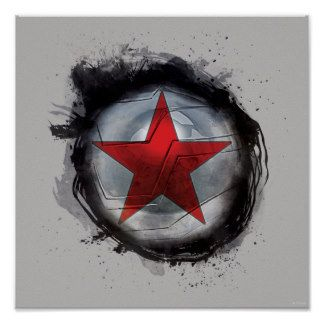 winter soldier star | Winter Soldier Red Star Posters