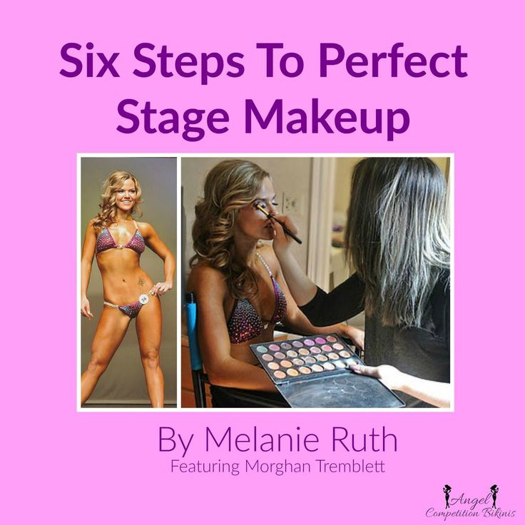 NPC competition makeup, show day makeup, bikini competition makeup