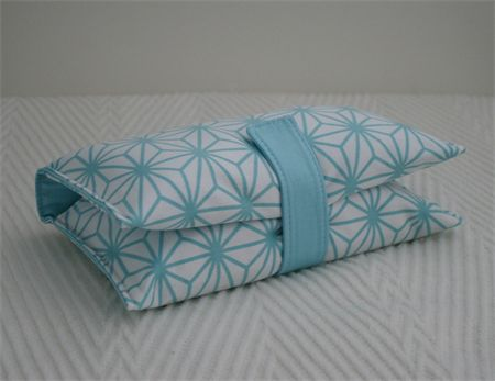 Nappy Wallet -  Duck Egg & White