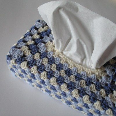 granny tissue box cover -- THis is SO annoying to me. I repinned this yesterday but decided I wanted to find it today, and had to search and search for . It was not on the blog that the pin took me to, and it wasn't handy on the blog it actually came from. For anyone interested, here at last is the pattern: http://theroyalsisters.blogspot.com/2010/09/granny-tissue-box-tutorial.html
