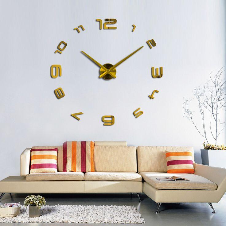 Jam Dinding 3D Classic Gold | Fine Arloji