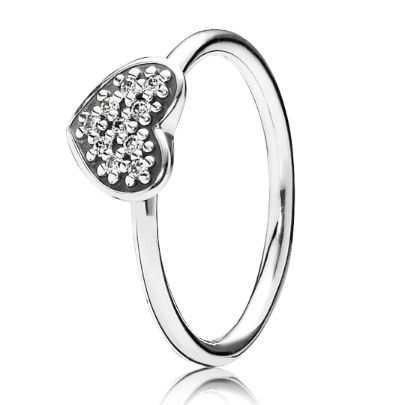 Pandora Silver Clear Cubic Zirconia Pave Heart Ring 190890CZ Add a touch of sparkle to your outfit with this stunning ring from Pandora. The sterling silver ring holds in place, the beautiful heart, covered in 11 dazzling cubic zirconia. This is a ring that is sure to add glamour and sophistication to any outfit, and would make the perfect gift for a loved one.