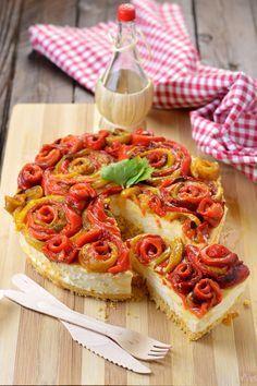Cheesecake salata certosa e peperoni