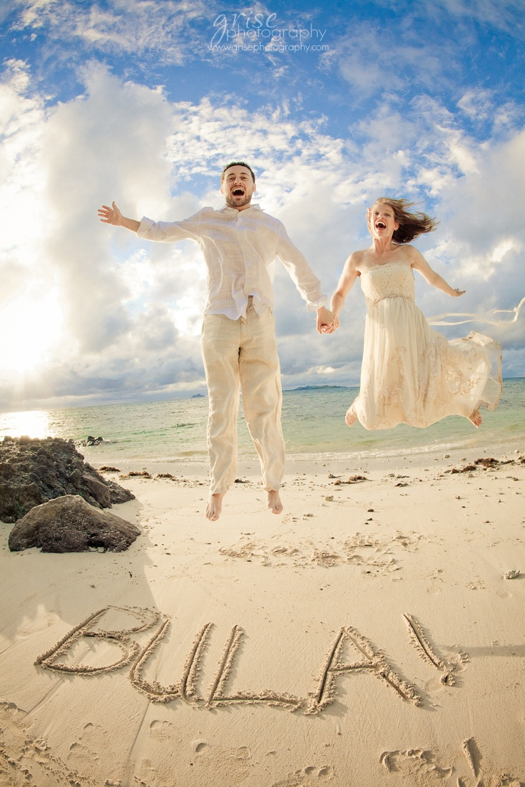"""Fiji wedding! """"Bula"""" originates from the Fijian culture and means anything from hello, goodbye, welcome, love and more. It means LIFE! :)"""