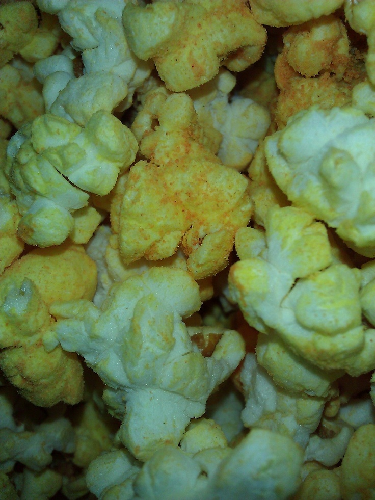 Super 3 Cheese Popcorn from Metropolis Popcorn This one is for all you cheese lovers. We've got cheddar, white cheddar, and nacho cheese all mixed in one.
