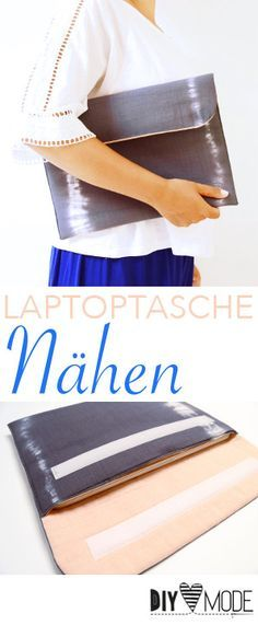 Laptoptasche Laptophülle nähen / Video-Anleitung
