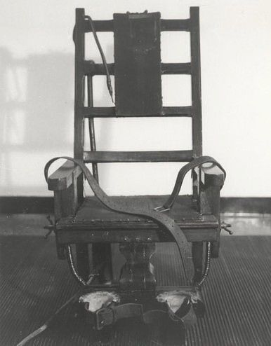 """Old Sparky."" The electric chair used at Sing Sing prison"